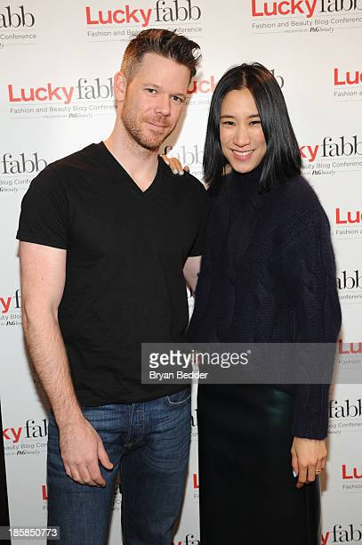 Makeup artist Jake Bailey and Editor in Chief of Lucky Eva Chen attend Lucky Magazine's TwoDay East Coast FABB Fashion and Beauty Blog Conference Day...