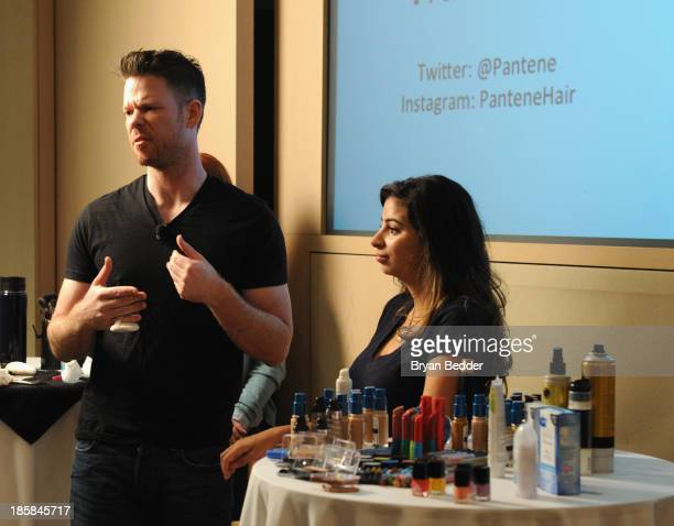 Makeup artist Jake Bailey speaks at Lucky Magazine's TwoDay East Coast FABB Fashion and Beauty Blog Conference Day 2 on October 25 2013 in New York...