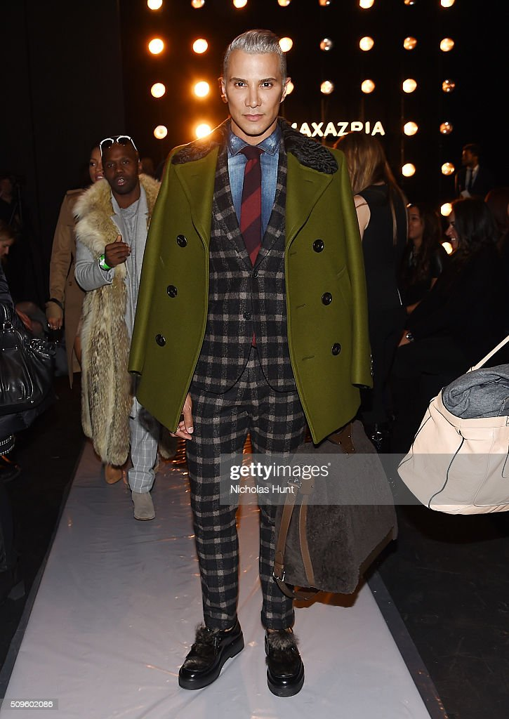 Make-up artist Jay Manuel attends the BCBGMAXAZRIA show during Fall 2016 New York Fashion Week: The Shows at The Arc, Skylight at Moynihan Station on February 11, 2016 in New York City.