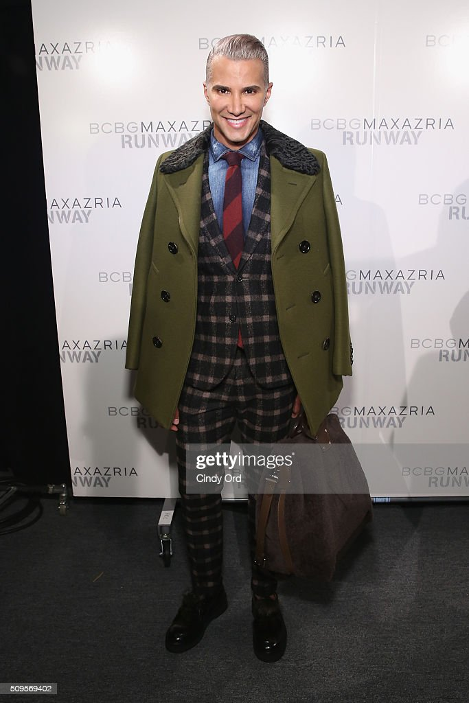 Make-up artist <a gi-track='captionPersonalityLinkClicked' href=/galleries/search?phrase=Jay+Manuel&family=editorial&specificpeople=557434 ng-click='$event.stopPropagation()'>Jay Manuel</a> poses backstage at the BCBGMAXAZRIA Fall 2016 fashion show during New York Fashion Week: The Shows at The Dock, Skylight at Moynihan Station on February 11, 2016 in New York City.