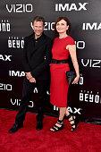 Makeup artist Joel Harlow and cosutme designer Sanja Hays attend the premiere of Paramount Pictures' 'Star Trek Beyond' at Embarcadero Marina Park...