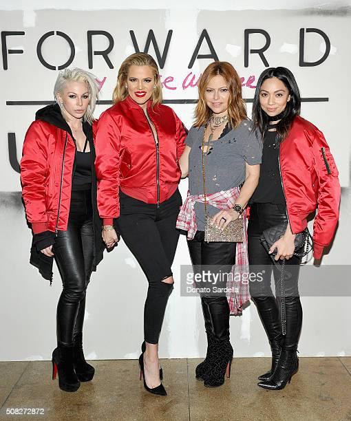 Makeup artist Joyce Bonelli Tv personality Khloe Kardashian Fashion director FORWARD Elyse Walker and stylist Monica Rose attend FORWARD By Elyse...