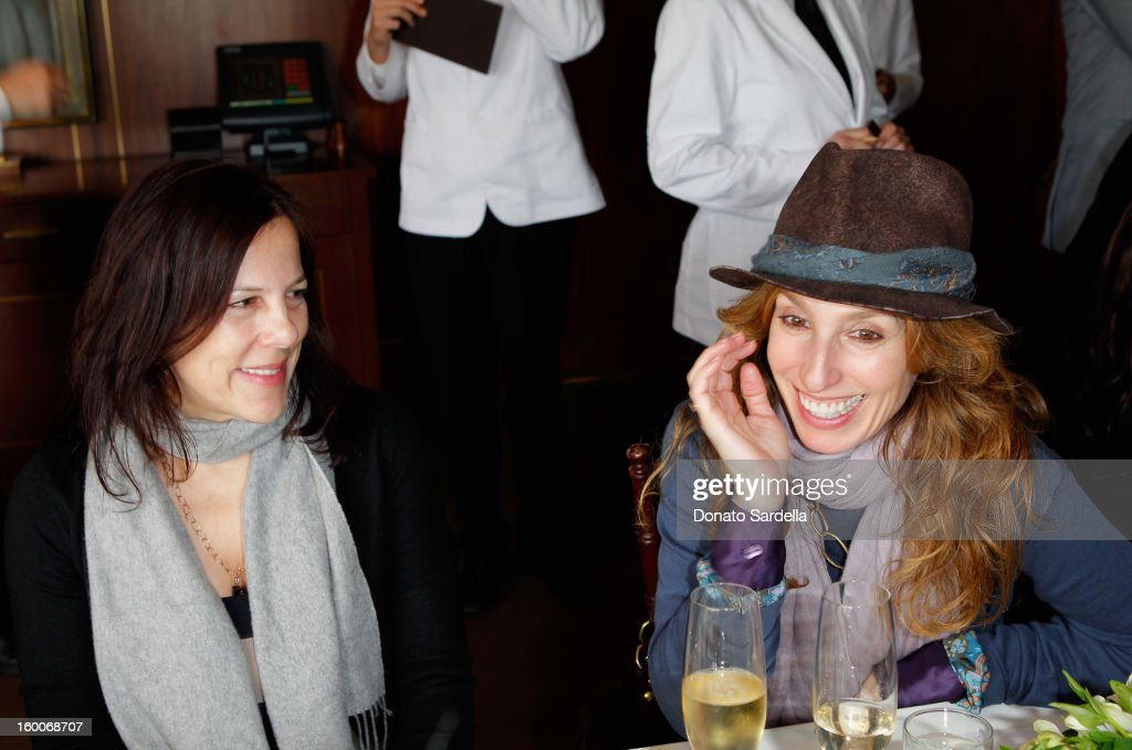Make-up artist Julie Hewett (L) attends the Champagne Taittinger Women in Hollywood Lunch hosted by Vitalie Taittinger at Sunset Tower on January 25, 2013 in West Hollywood, California.