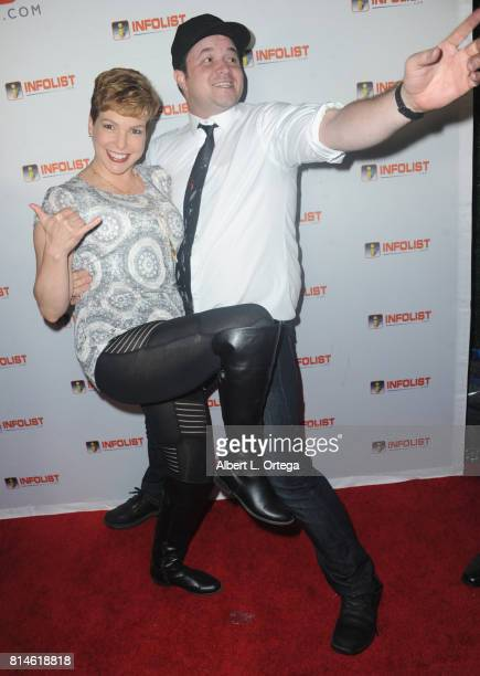 Makeup artist Lisa Hansel and Jed Luczynski attend Jeff Gund's INFOLISTcom's Annual PreComicCon Party held at OHM Nightclub on July 13 2017 in...