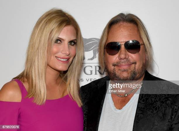 Makeup artist Rain Hannah and singer Vince Neil of Motley Crue attend the 21st annual Keep Memory Alive 'Power of Love Gala' benefit for the...