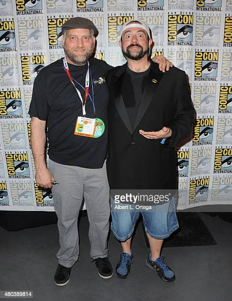 Makeup artist Robert Kurtzman and filmmaker Kevin Smith attend the 'Yoga Hosers' panel during ComicCon International 2015 at the San Diego Convention...