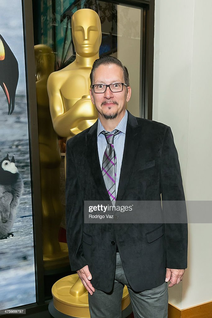 Makeup artist Stephen Prouty attends the 86th Annual Academy Awards Oscar Week Celebrates Makeup and Hairstyling at AMPAS Samuel Goldwyn Theater on March 1, 2014 in Beverly Hills, California.