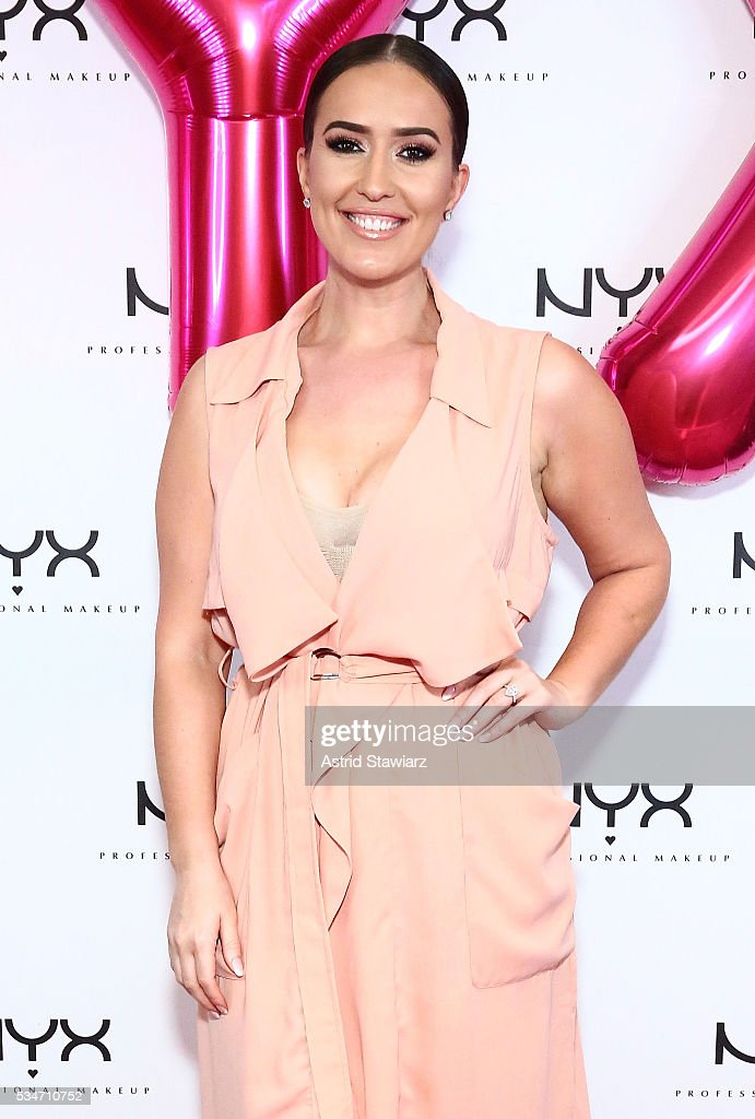 Makeup artist Vjosa Pacuku attends NYX Professional Makeup Store Kings Plaza Ribbon Cutting on May 25, 2016 in Brooklyn, New York.