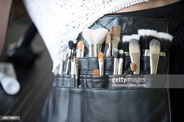 Makeup artists brush pouch, close-up