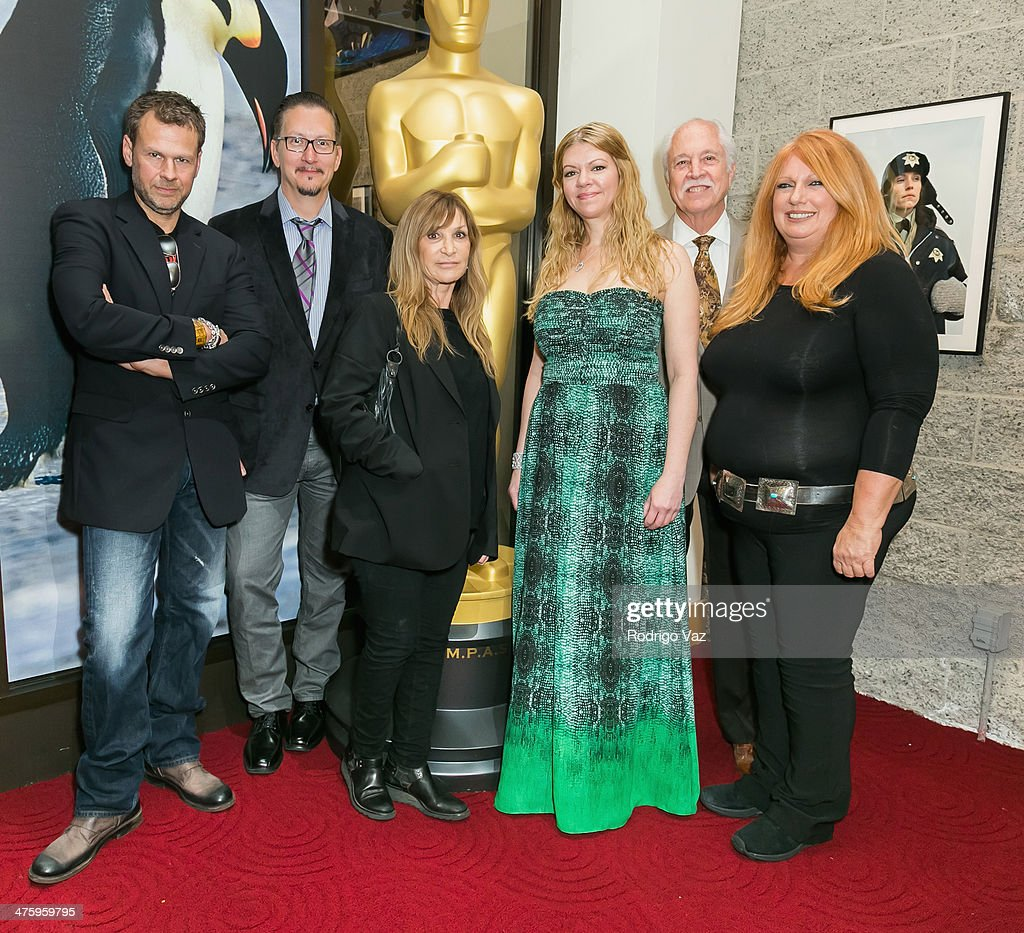Makeup artists Joel Harlow, Stephen Prouty, Gloria Pasqa-Casny, Robin Mathews, Leonard Engelman and Adruitha Lee attend the 86th Annual Academy Awards Oscar Week Celebrates Makeup and Hairstyling at AMPAS Samuel Goldwyn Theater on March 1, 2014 in Beverly Hills, California.