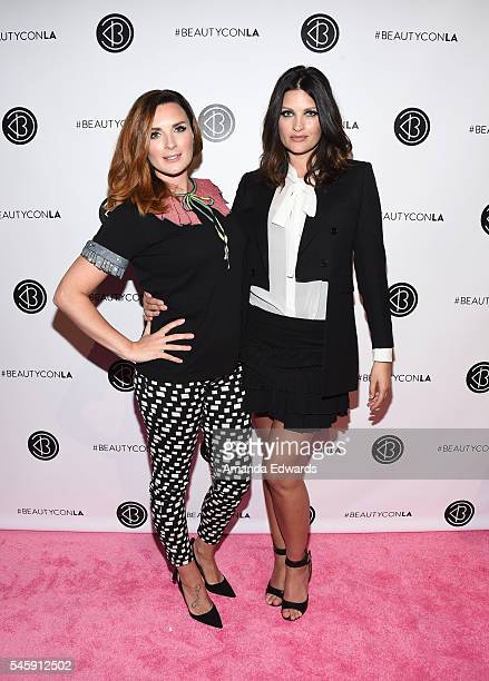 Makeup artists Nicola Chapman and Samantha Chapman of Pixiwoo arrive at the 4th Annual Beautycon Festival Los Angeles at the Los Angeles Convention...