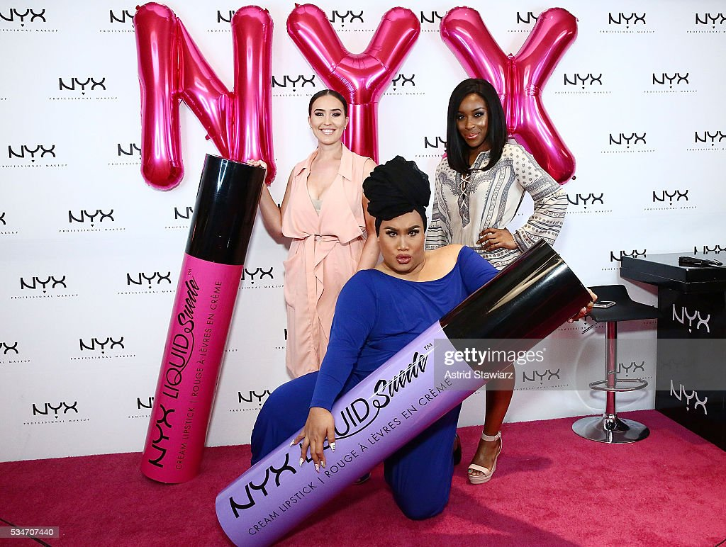 Makeup artistsVjosa Pacuku, Patrick Starr and Jackie Aina attend NYX Professional Makeup Store Kings Plaza Ribbon Cutting on May 25, 2016 in Brooklyn, New York.
