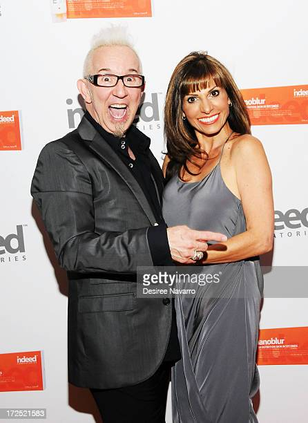 Makeup Artsit Jim Crawford and Dia Foley Vice President of Sales and Marketing of Indeed Laboratories attend Indeed Laboratories official US launch...