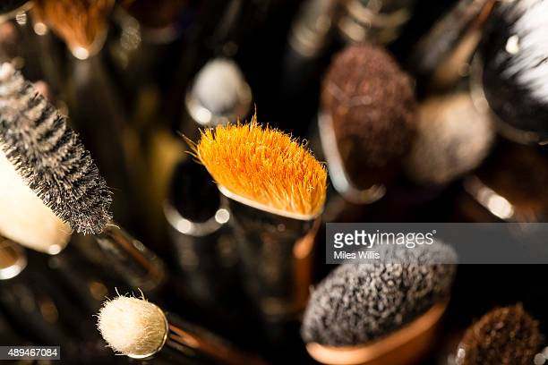 Makeup brush detail during London Fashion Week Spring/Summer 2016/17 on September 21 2015 in London England