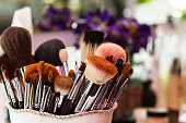 Brush set makeup, beauty salon