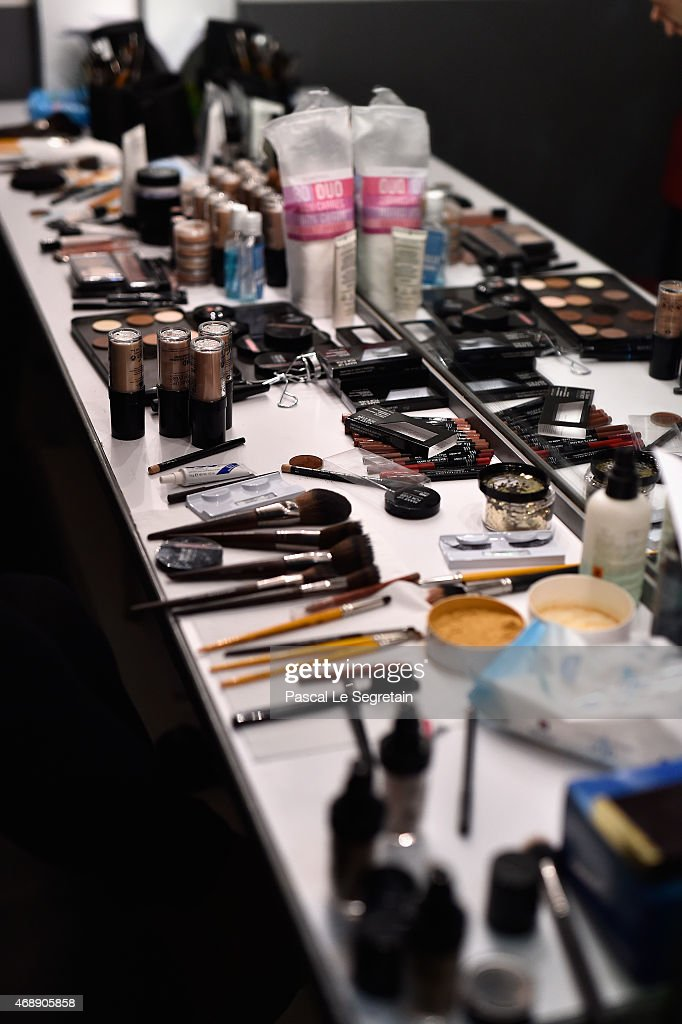 A Makeup Counter In A Dressing Room During Rehearsals For