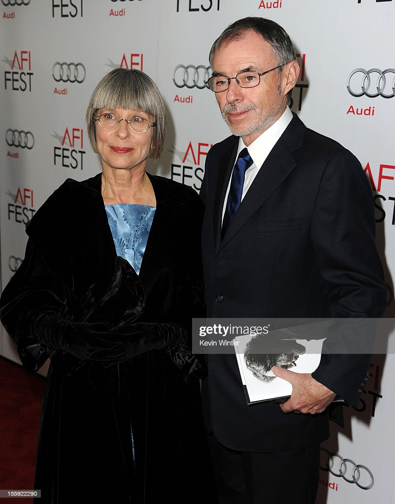 Makeup designer Lois Burwell (L) and guest arrive at the 'Lincoln' premiere during AFI Fest 2012 presented by Audi at Grauman's Chinese Theatre on November 8, 2012 in Hollywood, California.