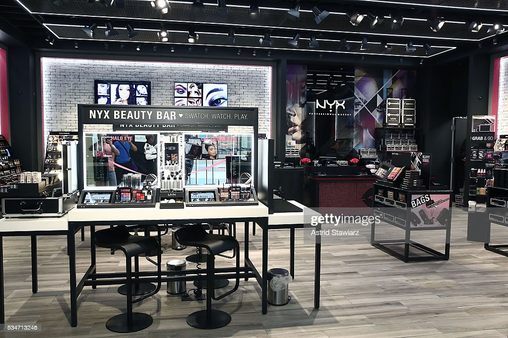 NYX makeup displayed inside the NYX Professional Makeup Store Kings Plaza Ribbon Cutting and Store Opening on May 25, 2016 in Brooklyn, New York.