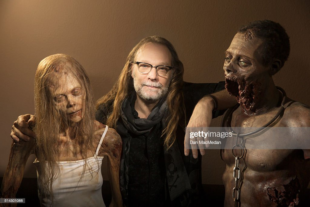 Make-up effects creator, television producer and director Greg Nicotero is photographed for USA Today on February 3, 2016 in Chatsworth, California.