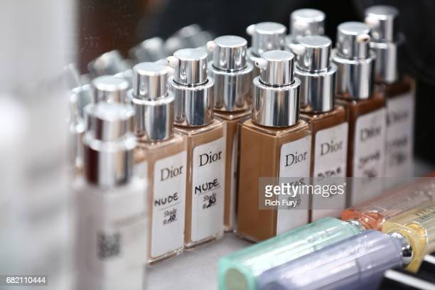 Makeup is displayed during the Christian Dior Cruise 2018 Runway Show at the Upper Las Virgenes Canyon Open Space Preserve on May 11 2017 in Santa...