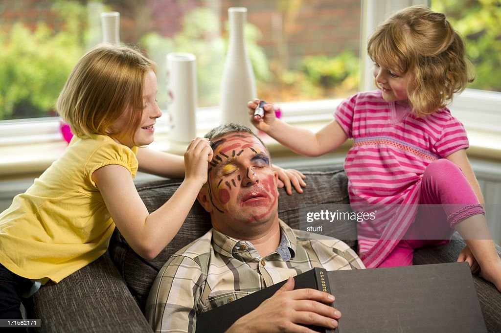make-up mischief : Stock Photo