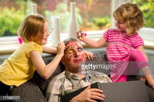 make-up mischief : Stock Photo
