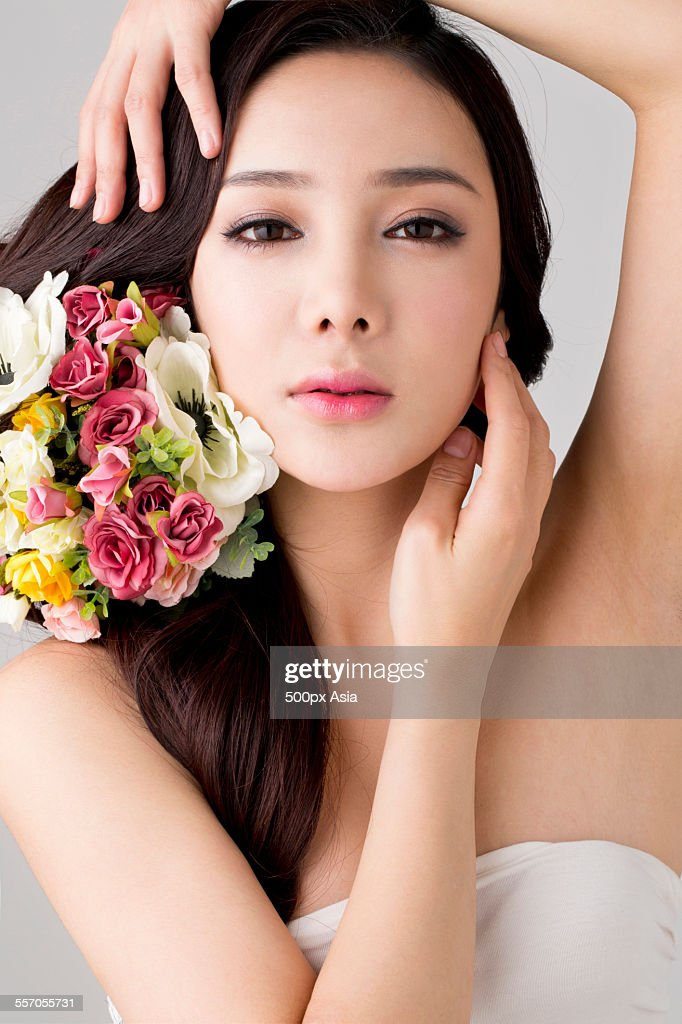 Make-up of a Young Woman : Stock Photo