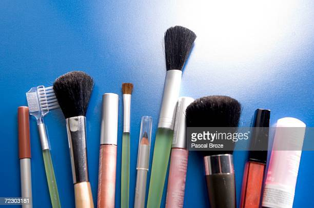 Make-up pencils and brushes, close-up