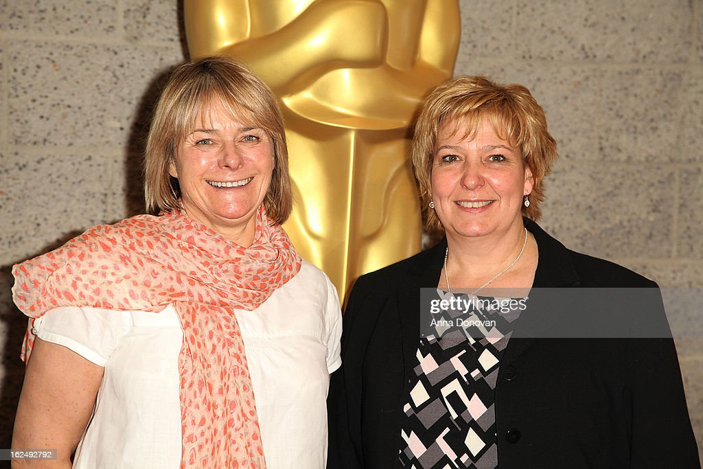 Makeup/Hairstylists Julie Dartnell and Lisa Westcott attend The Academy Of Motion Picture Arts And Sciences Presents Oscar Celebrates: Makeup And Hairstyling at the Academy of Motion Picture Arts and Sciences on February 23, 2013 in Beverly Hills, California.
