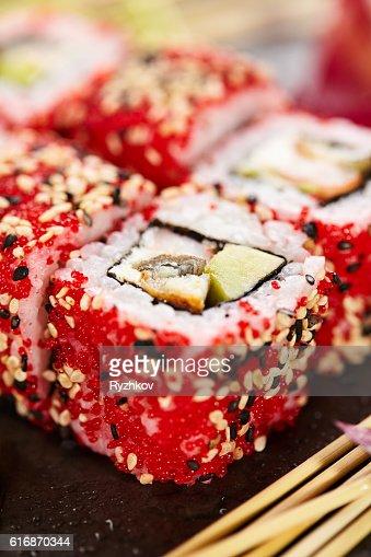 Maki Sushi Roll : Stock Photo