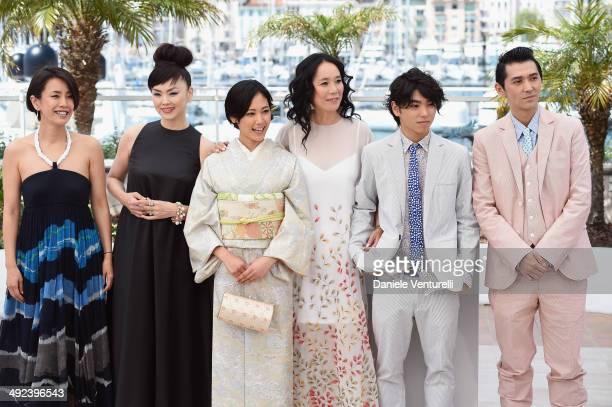 Makiko Watanabe Miyuki Matsuda Jun Yoshinaga Naomi Kawase Nijiro Murakami and Jun Murakami attends the 'Still The Water' Photocall during the 67th...