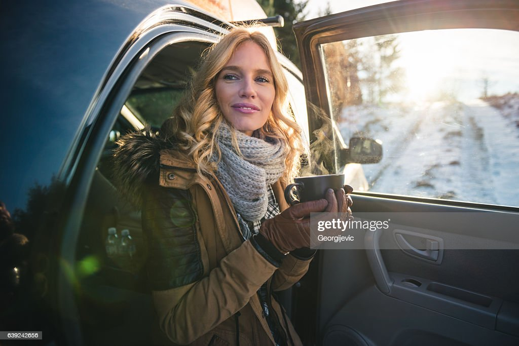 Making a break for coffee : Stock Photo