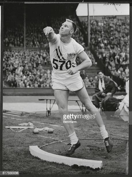 Making a clean sweep of the Olympic shot put a bettering the Olympic record on almost every throw US shot putters made their nation the first to win...