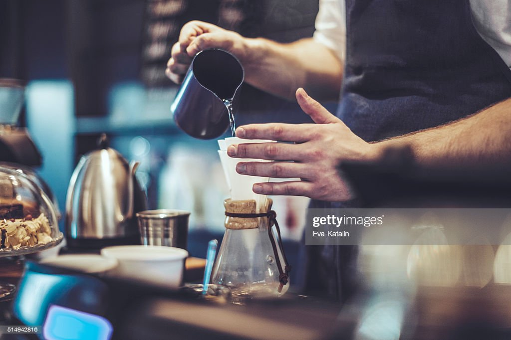 Making a coffee : Stock Photo