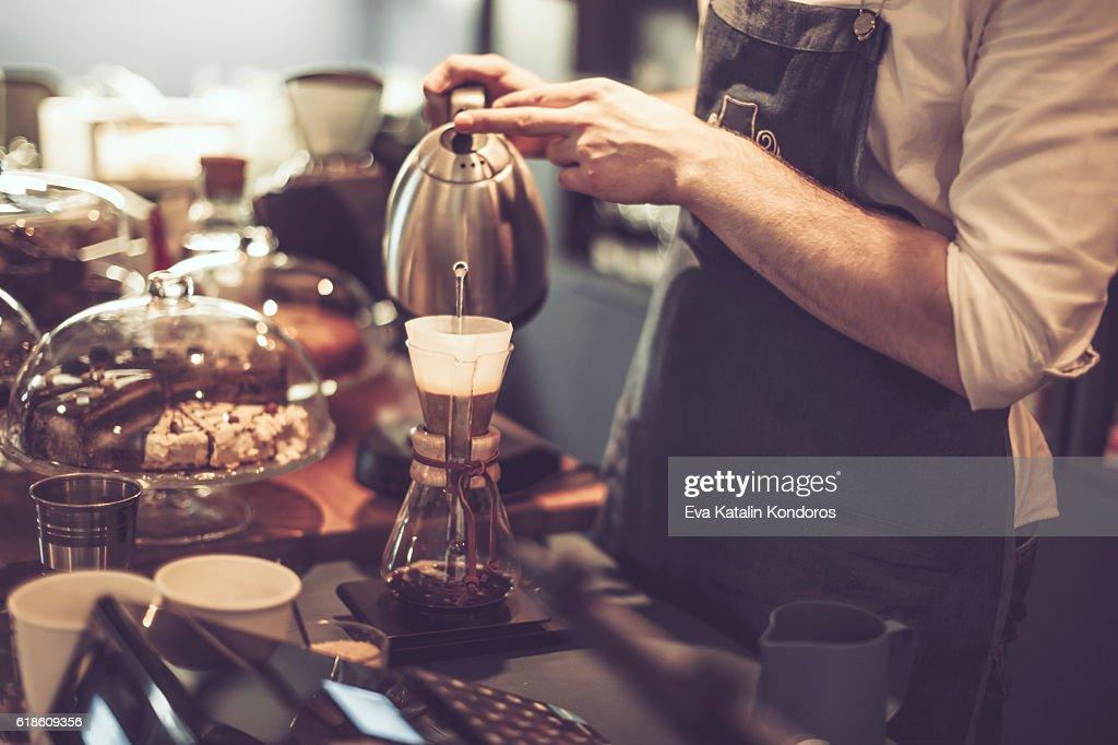 Making a coffee : Stock Photo