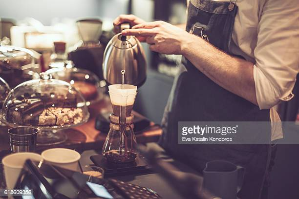 Making a coffee