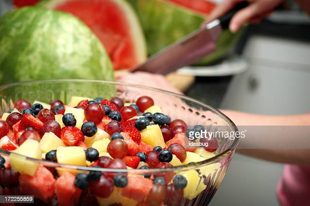 Making A Fruit Salad