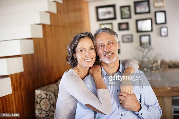 Eine glückliche zu Hause mit meinem Ehemann