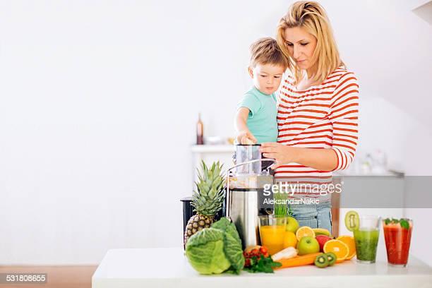 Making a healty juice