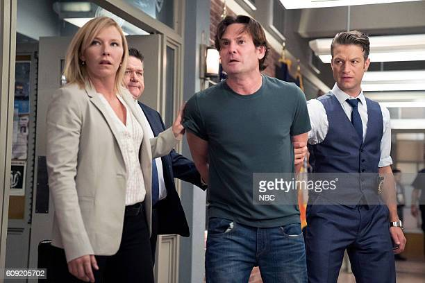 UNIT 'Making A Rapist' Episode 1802 Pictured Kelli Giddish as Amanda Rollins Henry Thomas as Sean Roberts Peter Scanavino as Dominick 'Sonny' Carisi