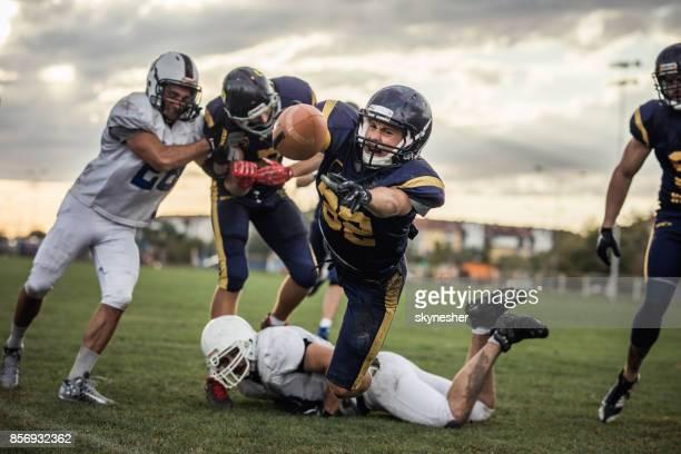 Making a touchdown!