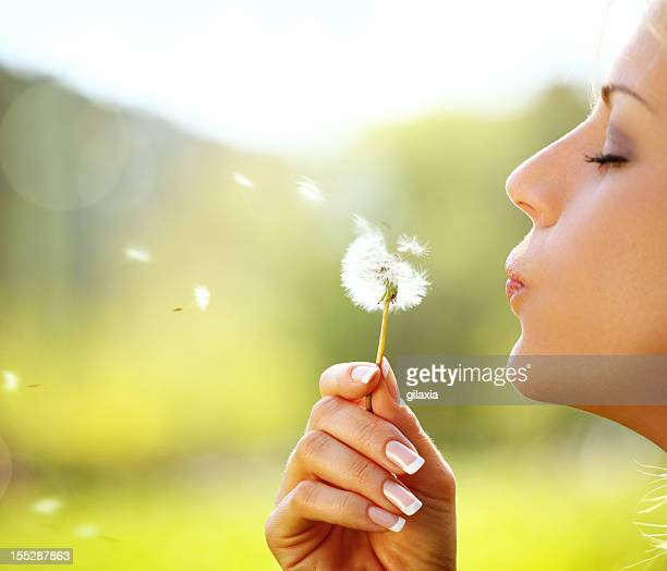 Making a wish.
