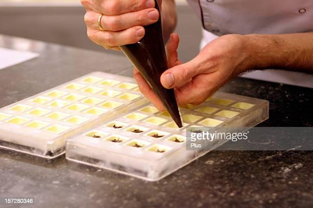 Making Belgian chocolates