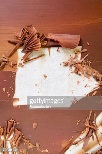 Making chocolate curls : Stock Photo