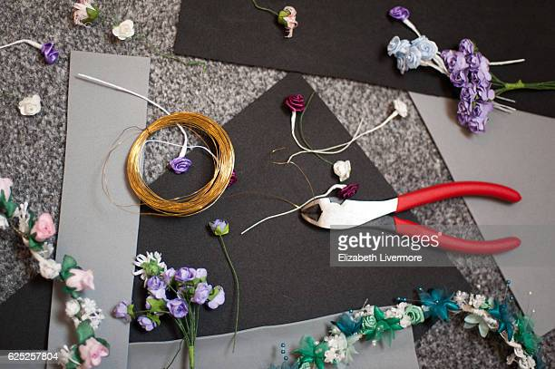 Making flower crowns