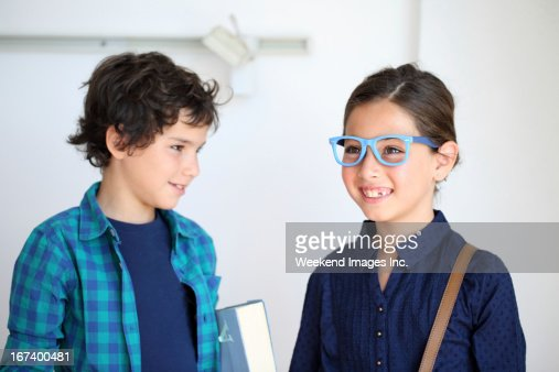 Making friends at a new school : Stock Photo