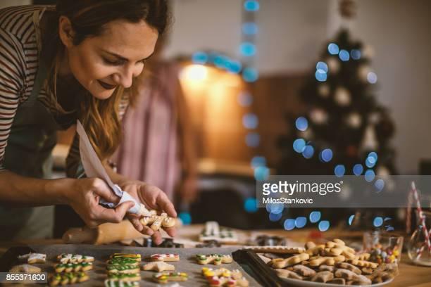 Herstellung von Lebkuchen zu Weihnachten