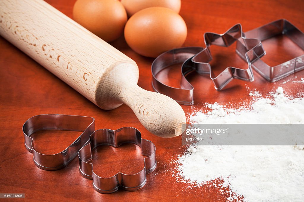 Making gingerbread cookies : Stock Photo