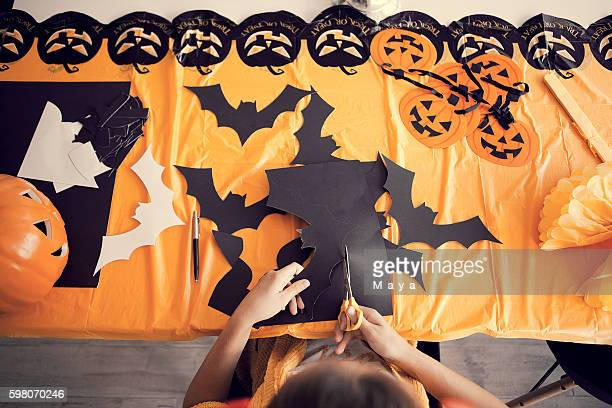 Making Halloween decorations