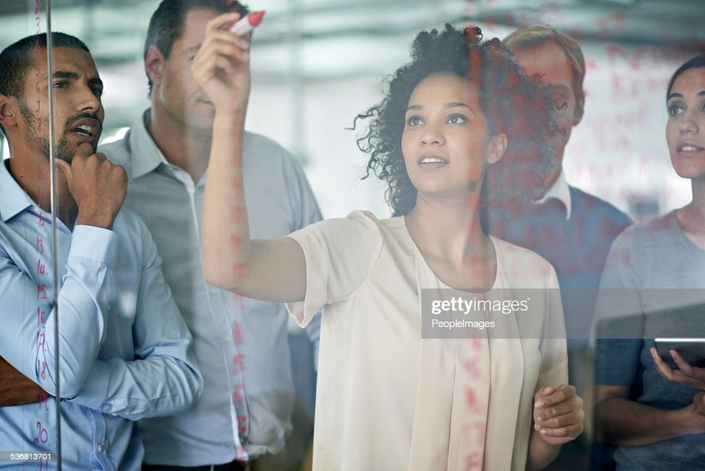 Making her point : Stock Photo